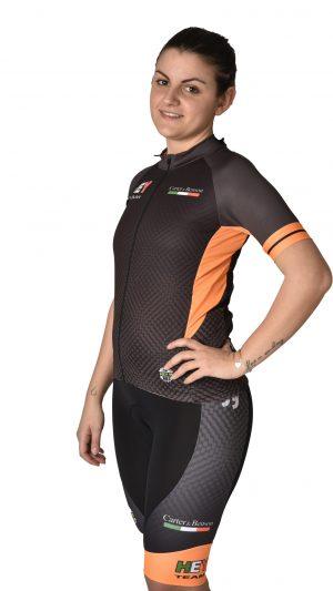 Maglia ciclismo donna arancio