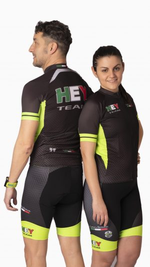 Maglia ciclismo verde unisex