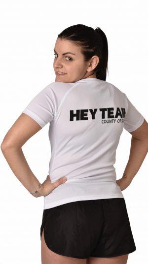 T-shirt sport bianca HT donna hey team