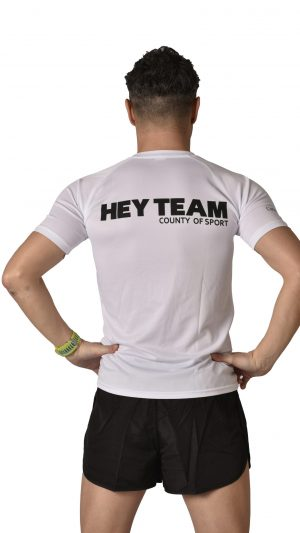T-shirt sport bianca HT uomo hey team